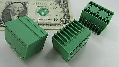 5 Phoenix Base Strip Pcb Terminal Blocks .150 3.81mm Mcd 15 8-g1-381 1843130