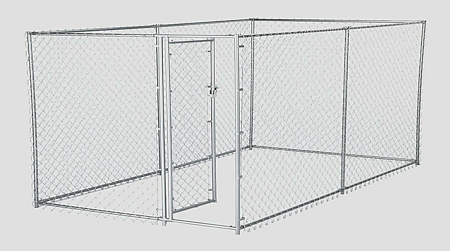 chain link dog kennel outdoor fence backyard large pet cage pen