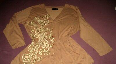 Denim Und Co (Denim & Co. - Leichtes Twinset Gr. XL - BW: Shirt 64 und Jacke 65 cm)