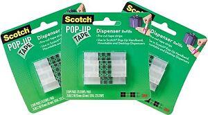 Scotch Hands Free Pop-up Tape Dispenser Refill Strips - 3 Pack