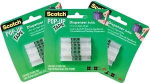 3M Scotch Pop Up Tape Dispenser Refills 3 Packs 675 Strips