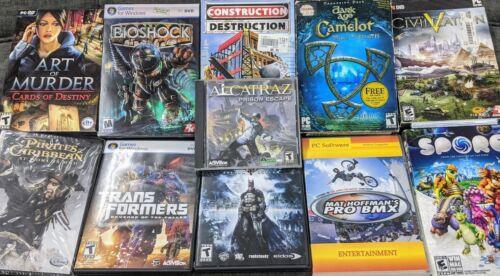 Computer Games - PC Game Lot of 12 - Computer Games - Batman - transformers - Alcatraz - Bioshock