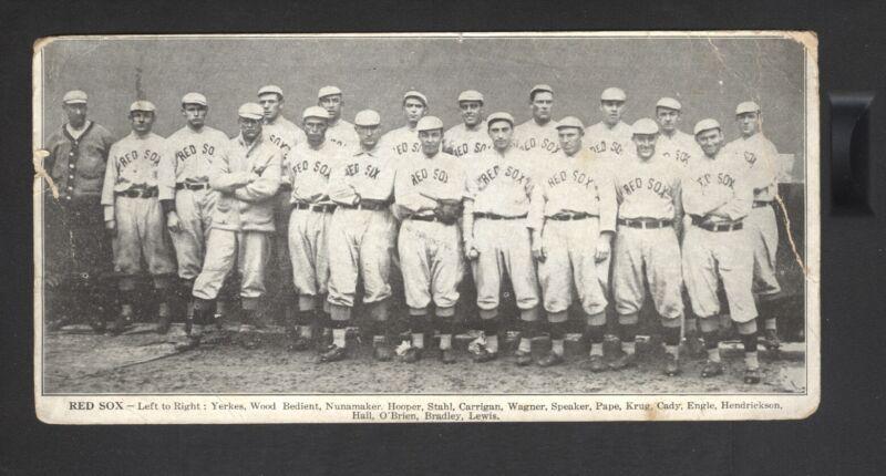 1912 Boston Red Sox World Series Champions Post Card Scorecard Speaker Smokey