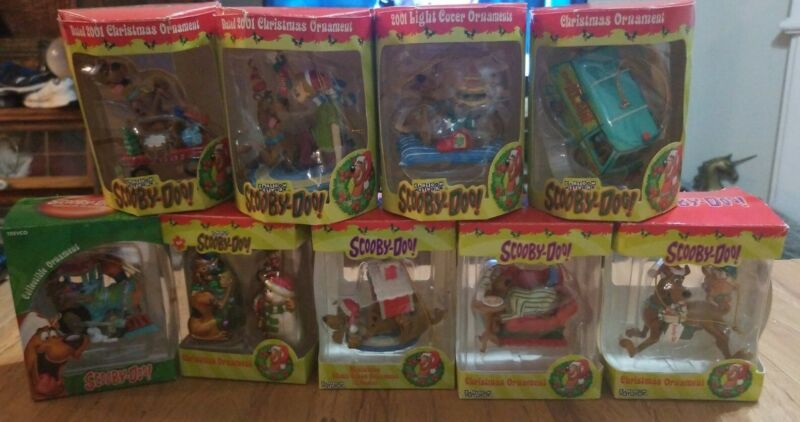 Lot of 10 Scooby Doo Collectible Christmas Tree Ornaments Mystery Machine Shaggy