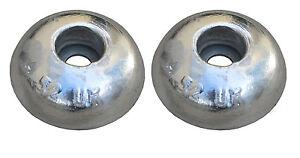 Pair of Aluminium Round Anodes 65dia x20mm, Boat hulls, rudders and trim tabs