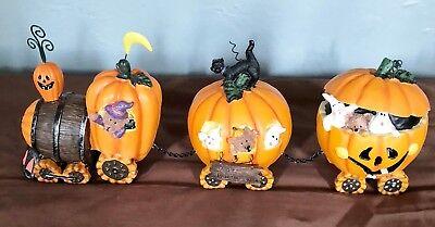 Halloween Pumpkin Express Train ( NIB Pumpkin Express Train Thanksgiving Halloween Ceramic Fall Decorations)