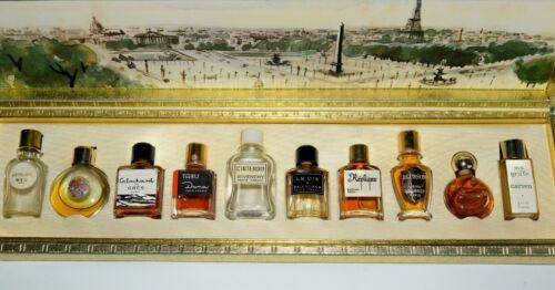 Miniature Commercial Perfume Bottles Set in Box Les Meilleurs Parfums de Paris