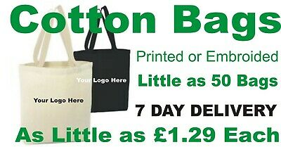 25 bulk personalized printed cotton bags tote 1.99 each