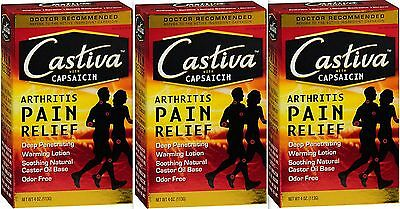 Castiva CAPSAICIN Lotion Arthritis Pain Relief  4oz (3 PACK) PRIORITY SHIP***