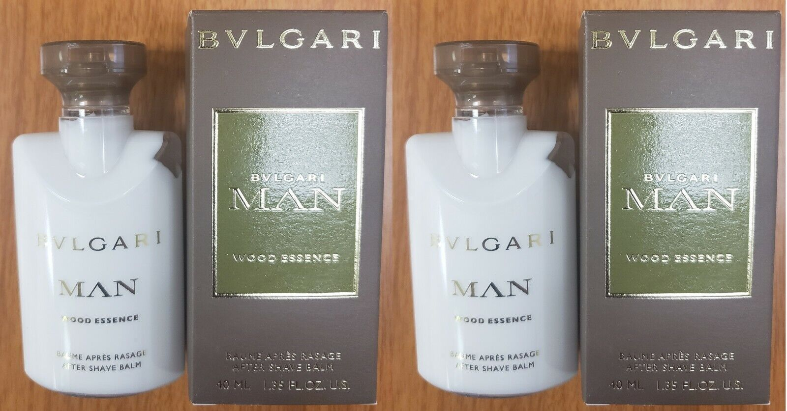 Bvlgari Man Wood Essence After Shave Balm Pack of 2 x  1.35