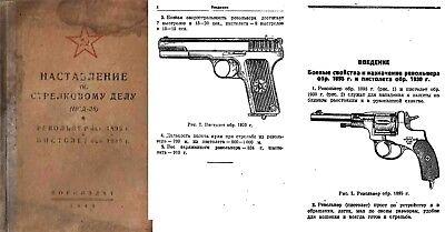 Used, Russian Nagant-Tokarev 1940 1895 Revolver (38) & 1930 Pistol Manual for sale  Brighton