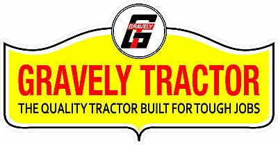 Tractor Decal Set - GRAVELY TRACTOR VINYL DECAL STICKER - SET OF 2