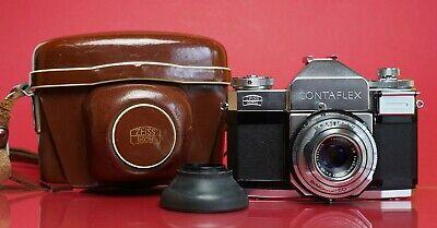 ZEISS IKON Contaflex mit Tessar 1:2,8 45mm + Tasche P804T, usado comprar usado  Enviando para Brazil