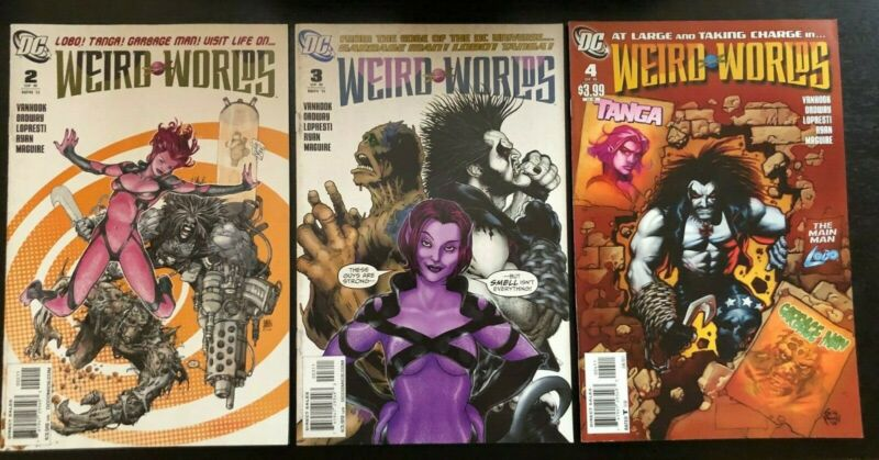 Lobo Weird Worlds 2, 3 and 4 Comic Books (DC COMICS 2011) GARBAGE MAN and TANGA