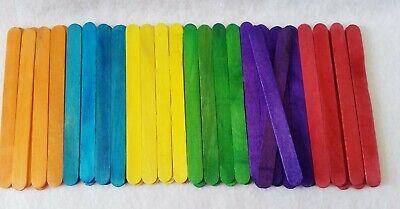 100 x Wood Child Toy Popsicle Stick Tool Kit Craft Art Creative Idea Multi - Craft Sticks Ideas