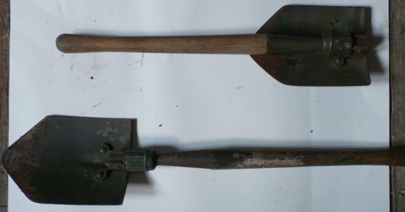 GENUINE MILITARY ENTRENCHING SHOVEL -(1 shovel) - FOLDING WW2 / KOREAN CONFLICT