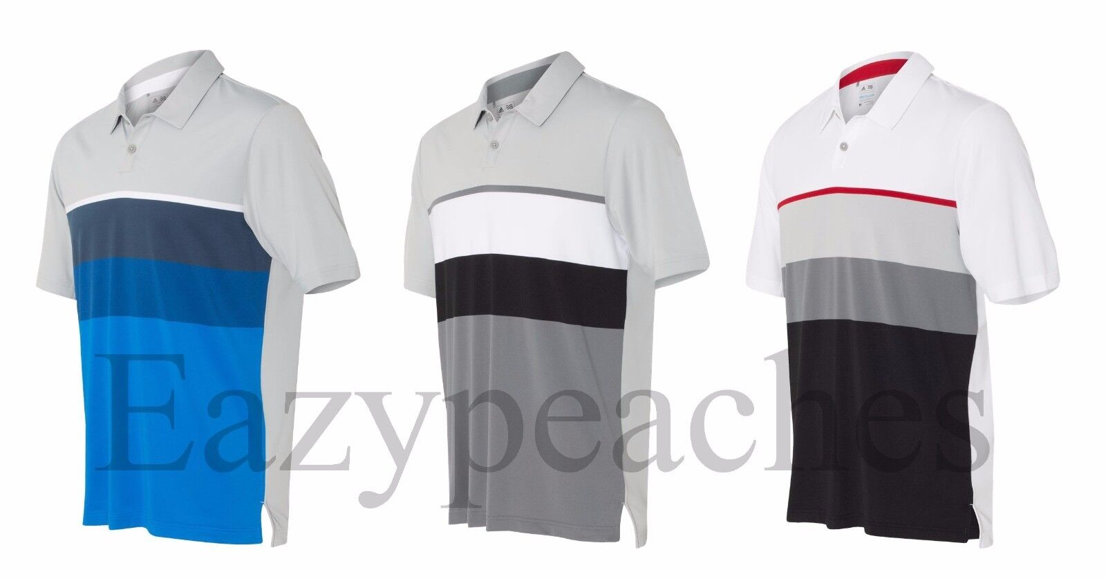 Clothing, Shoes & Accessories Activewear Adidas Climacool Engineered Stripe Sport Polo Shirt Mens Adult Size New A136