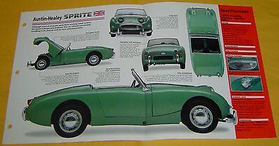 1958 Austin Healey Sprite Convertible 948cc 4 Cylinder SU Carbs Info/Specs/photo