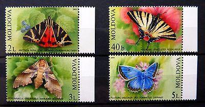 MOLDOVA 2002 Butterflies (4) SG455/8 U/M NB2045
