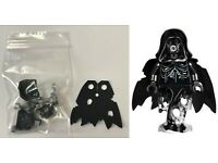 Dementor hp155 Lego Minifig Black with Black Cape