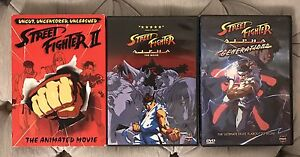 Street Fighter II anime dvd movie collection