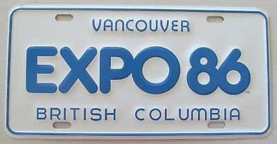 cd530e3e8372a  29.99 USD Buy It Now. 1986 VANCOUVER BRITISH COLUMBIA EXPO 86 BOOSTER  License Plate (223075569122)
