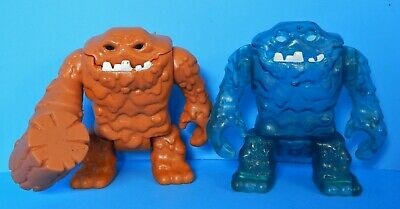IMAGINEXT DC SUPER FRIENDS CLAYFACE FIGURE LOT BROWN w/ HAMMER HAND & BLUE ICE