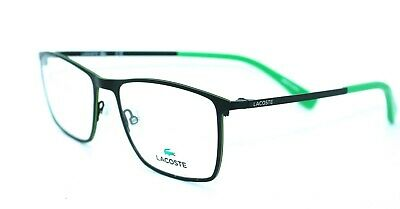 LACOSTE - L2223 001 54/17 - MATTE BLACK / GREEN - NEW Authentic MEN EYEGLASSES