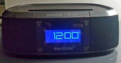 Memorex Bluetooth Alarm Clock Radio Model MW453 Fully Tested