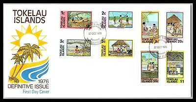 GP GOLDPATH: TOKELAU ISLANDS COVER 1976 FIRST DAY OF ISSUE _CV677_P12