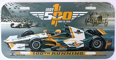 Indy 500 100Th Running License Plate Cover Indianapolis Racing 2016  New