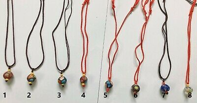 Coloured Glaze Pendant Necklace or Sweater Chain- small size