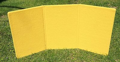 3-panel Trade Show Table Top Display Yellow 29x18.5x56 A-1 With Case