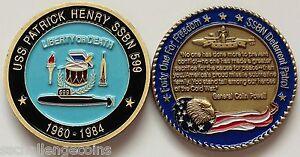 USS Patrick Henry SSBN 599 Submarine Challenge Coin