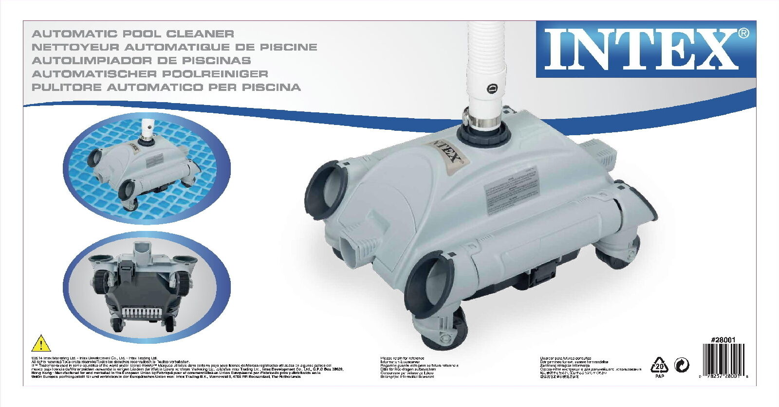 Auto pool cleaner intex 28001 per piscina robottino for Robot piscine intex 28001
