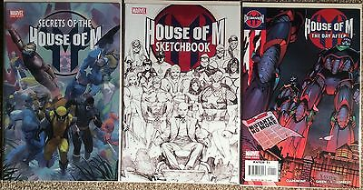 House Of M. 3 X One Shots. 2005/6. See Images. All High Grade Marvel.