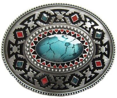 Gürtelschnalle Buckle Gürtelschliesse Ornament türkis