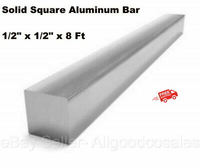 Square Stock 6063 Aluminum Alloy 12 X 12 X 96 Solid Square 8 Ft. Long Bar