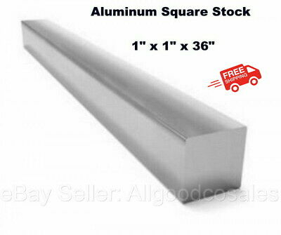 Aluminum Square Stock 6061 Alloy 1 X 1 X 36 Solid Square 3 Ft. Long Bar