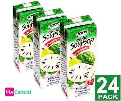 Jans Soursop Premium Exotic Juice 8.45Fl.oz(250ml) PACK-24