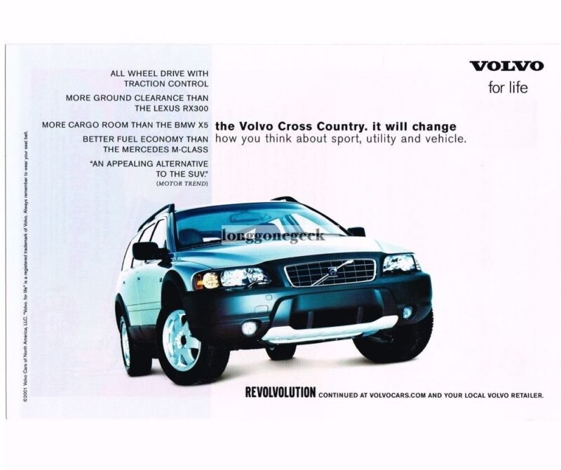 2001 Volvo CROSS COUNTRY SUV Vintage Ad