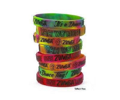 Zumba ~ One Zumba Love Rubber Bracelets - 8 Pack! ~ New! Free Ship!