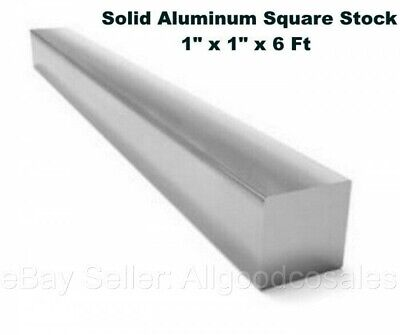 Square Stock 6061 Aluminum Alloy 1 X 1 X 72 Solid Square 6 Ft. Long Bar