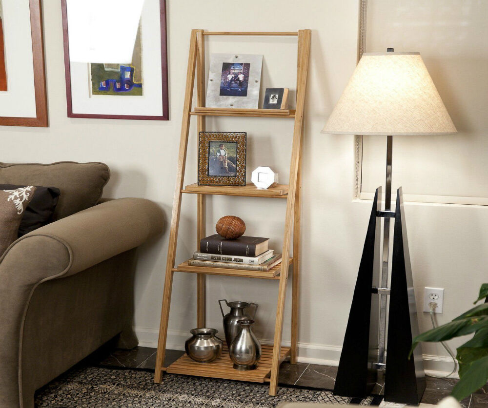 5 Great Ideas for Styling a Leaning Ladder