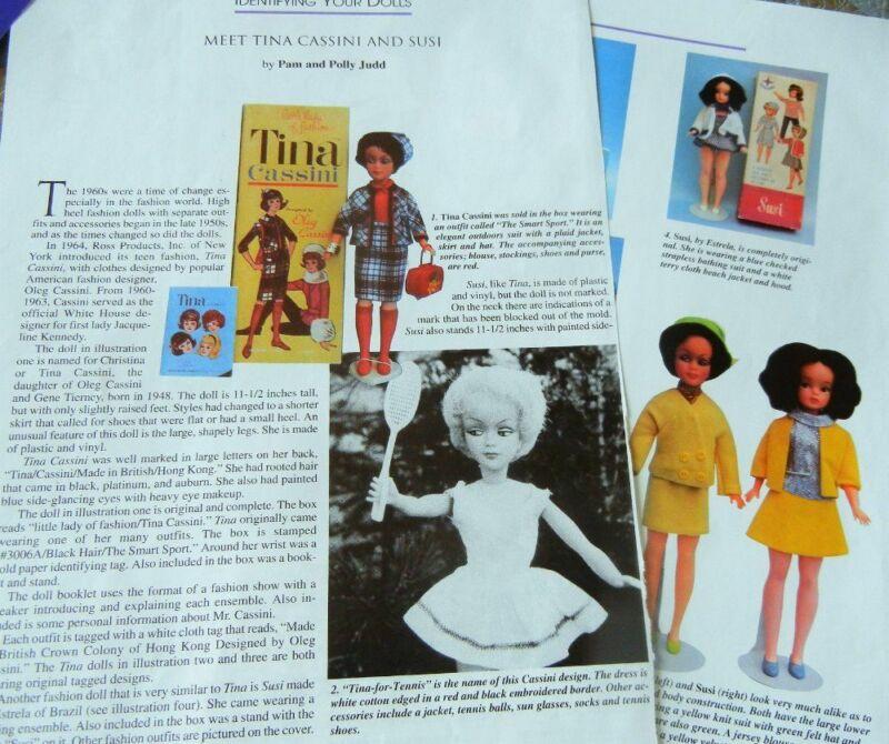 4p History Article & Pics  -  VTG Ross Tina Cassini Fashion Dolls