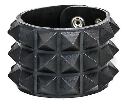 Studded Rubber Silicone Pyramid Gothic Bracelet Punk Goth Thrash Rockabilly