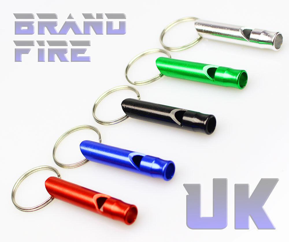 Metal Whistle Emergency Distress Keyring Ultra Compact Mini Survival Kit
