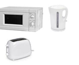 Kitchen Bundle -microwave, kettle & toaster