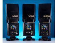3 x Nissin Di866 MARK II professional Speedlights NISSIN Flash for Nikon
