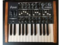 Arturia Minibrute mono synth with custom wood panels